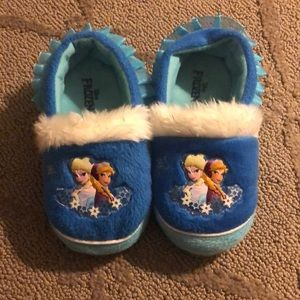 Disney Elsa&Anna Frozen Slippers 7/8T
